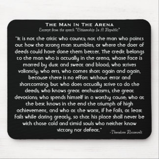 'The Man In The Arena' Mousepad