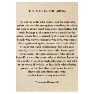 image regarding The Man in the Arena Printable named The Guy Inside of The Arena Posters Prints Zazzle United kingdom