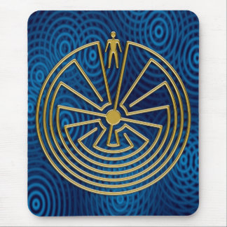 The Man in the Maze - gold Mouse Mat