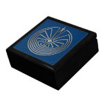 The Man in the Maze - silver Large Square Gift Box
