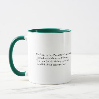 The Man in the Moon looked out of the moon Mug