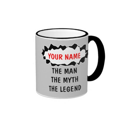 The man myth legend coffee mugs | Personalizable