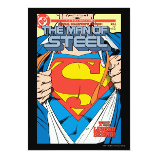The Man of Steel #1 Collector's Edition 13 Cm X 18 Cm Invitation Card