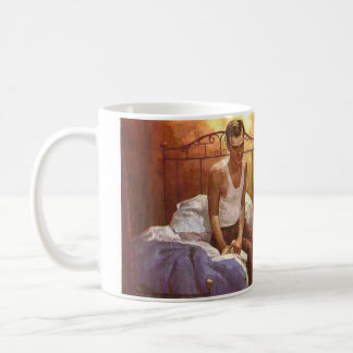 """The Man On The Bed"" Coffee Cup"