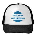 The Man The Legend - Blue Mesh Hats