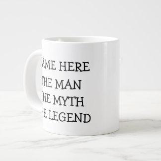 The Man The Myth The Legend Personalized Jumbo Mug