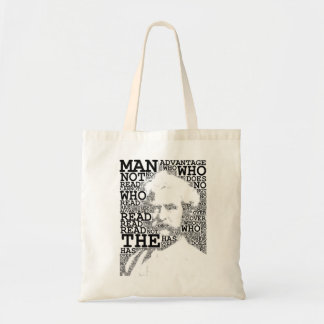 The Man Who Does Not Read Tote Budget Tote Bag