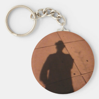 The Man Who wasn't There Basic Round Button Key Ring
