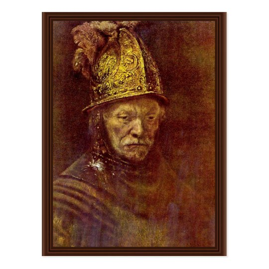 The Man With The Golden Helmet. Postcard