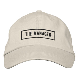 The Manager Headline Embroidery Embroidered Hat