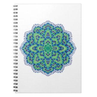 The Mandala-Cool Emerald Notebook