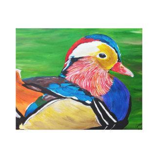 The mandarin duck canvas print