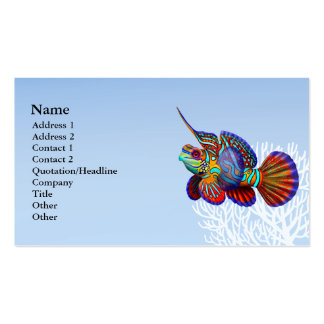 The Mandarin Goby Dragonet Fish Business Card