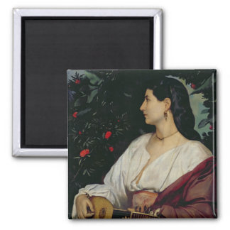 The Mandolin Player, 1865 Magnet