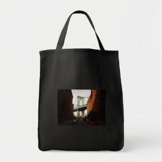 The Manhattan Bridge, A Street View Grocery Tote Bag