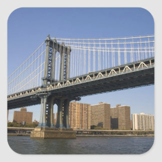 The Manhattan Bridge spanning the East River 2 Square Sticker