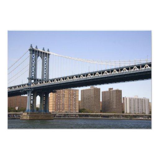 The Manhattan Bridge spanning the East River Photo Print