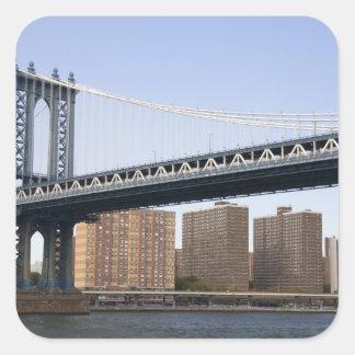 The Manhattan Bridge spanning the East River Square Sticker