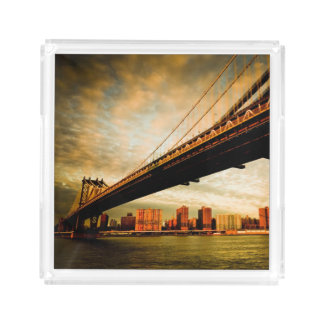 The Manhattan bridge view from Brooklyn side (NYC) Acrylic Tray