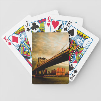 The Manhattan bridge view from Brooklyn side (NYC) Bicycle Playing Cards