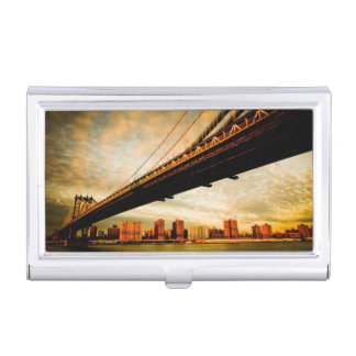 The Manhattan bridge view from Brooklyn side (NYC) Business Card Holder