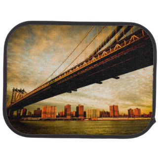 The Manhattan bridge view from Brooklyn side (NYC) Car Mat