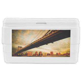 The Manhattan bridge view from Brooklyn side (NYC) Cooler
