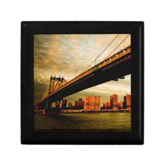 The Manhattan bridge view from Brooklyn side (NYC) Gift Box