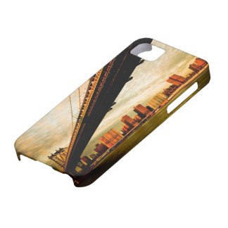 The Manhattan bridge view from Brooklyn side (NYC) iPhone 5 Cover