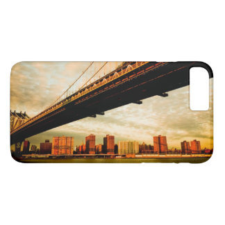 The Manhattan bridge view from Brooklyn side (NYC) iPhone 8 Plus/7 Plus Case