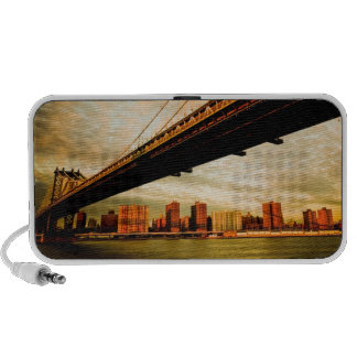 The Manhattan bridge view from Brooklyn side (NYC) iPod Speakers
