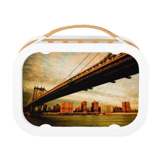 The Manhattan bridge view from Brooklyn side (NYC) Lunch Box