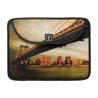 The Manhattan bridge view from Brooklyn side (NYC) MacBook Pro Sleeves