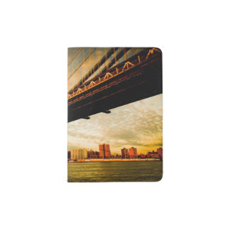 The Manhattan bridge view from Brooklyn side (NYC) Passport Holder