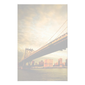 The Manhattan bridge view from Brooklyn side (NYC) Stationery