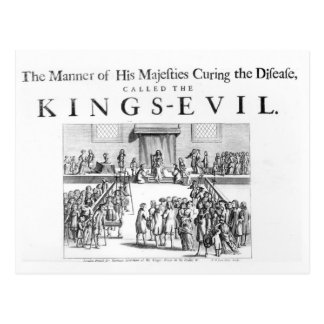 The Manner of his Majesty Curing the Disease Postcard