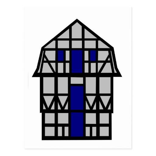 The Mansard House - grey Postcards