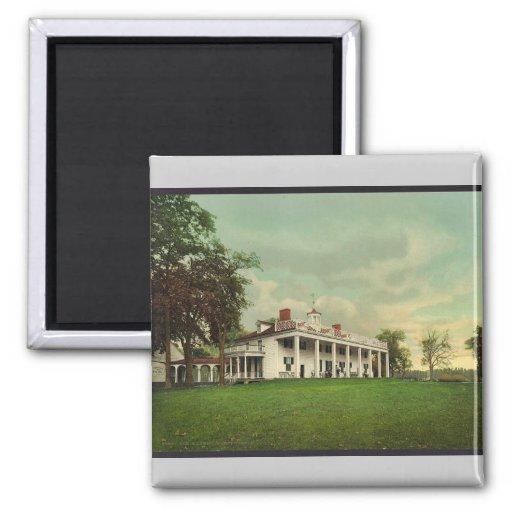 The Mansion, Mount Vernon rare Photochrom Magnets