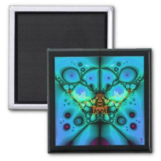 The Many Eyes of Izzaac V 2  Square Magnet