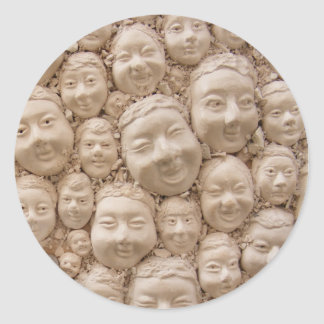 The Many-Faced Round Sticker