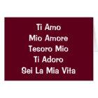 THE MANY WAYS I LOVE YOU ITALIAN BIRTHDAY CARD
