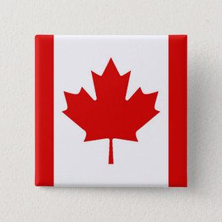The Maple Leaf flag of Canada 15 Cm Square Badge