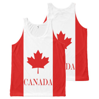 The Maple Leaf flag of Canada All-Over Print Tank Top