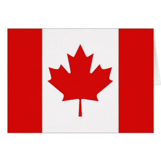 The Maple Leaf flag of Canada Card