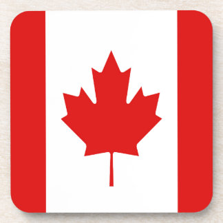 The Maple Leaf flag of Canada Coaster
