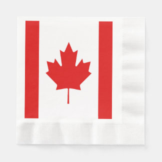The Maple Leaf flag of Canada Disposable Serviettes