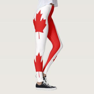 The Maple Leaf flag of Canada Leggings