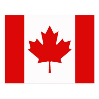 The Maple Leaf flag of Canada Postcard