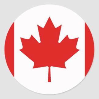 The Maple Leaf flag of Canada Round Sticker