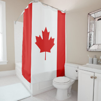 The Maple Leaf flag of Canada Shower Curtain